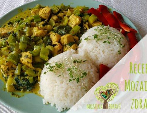 Krůtí maso se zeleninou a rýží na thajský způsob