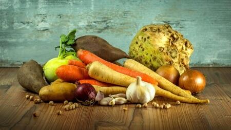 Zdravá strava - kořenová zelenina