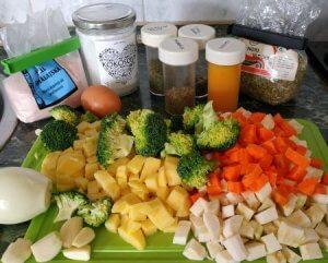 suroviny na kváskovou polévku